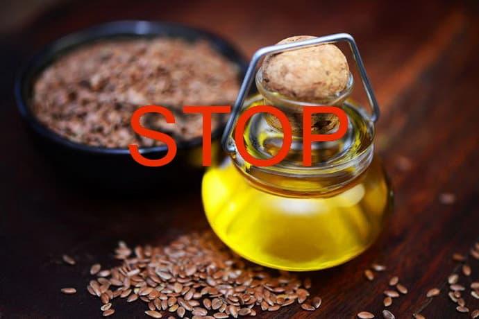 Противопоказания к употреблению льняного масла
