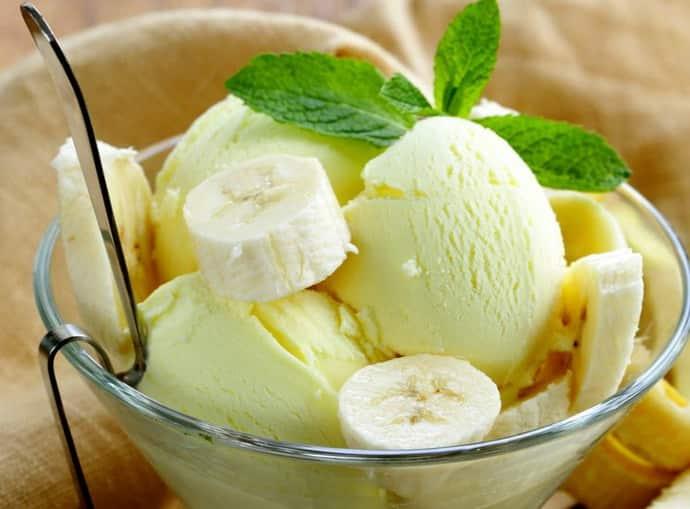 Банановое мороженое при гастрите