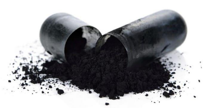 приготовьте из угля парашок