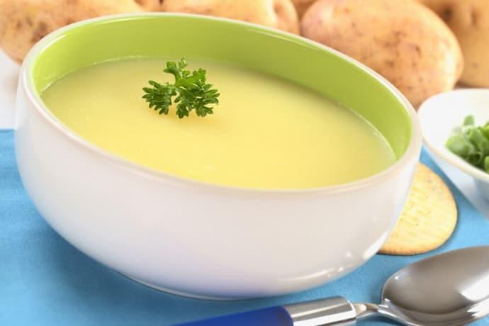 Картофельный суп при гастрите с пониженной кислотностью.