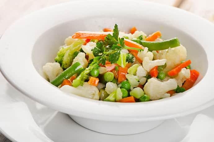 Паровые овощи при гастрите