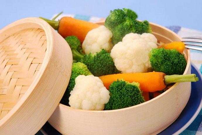 Отварные овощи при гастрите
