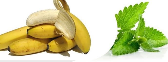 Банан с мятой при гастрите