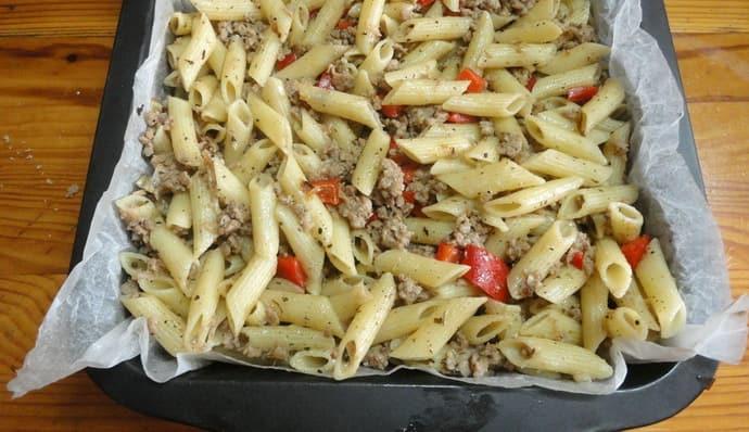 Макароны с овощами при гастрите