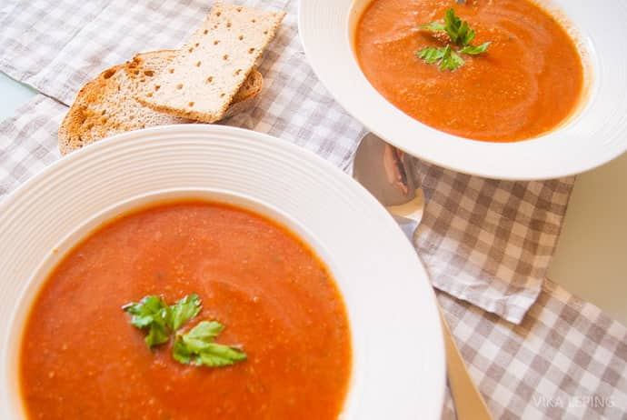 Суп-пюре с помидорами при гастрите