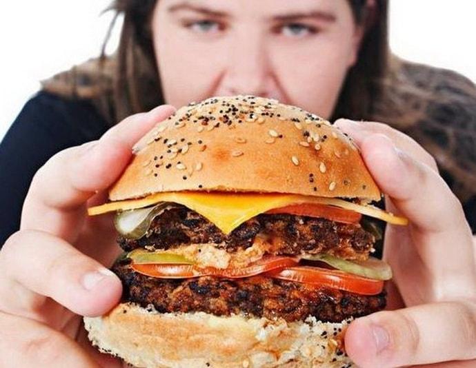 Неправильное питание при изжоге