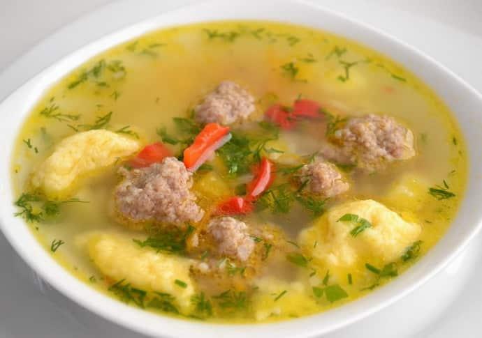 Суп с фрикадельками при гастрите