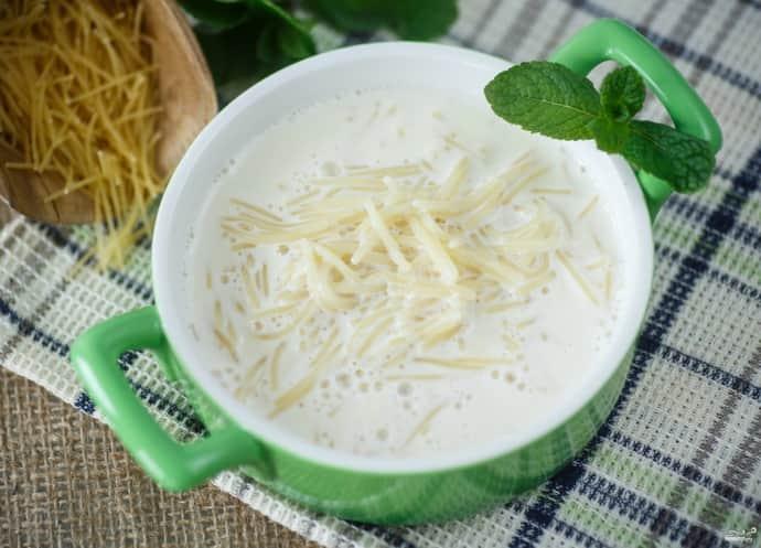 Молочный суп при гастрите
