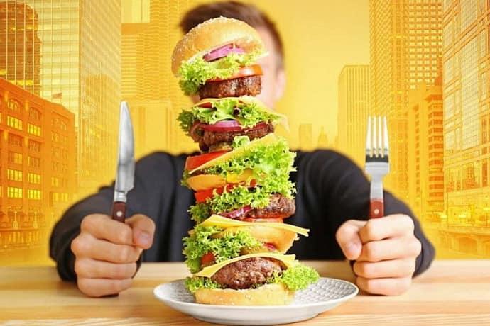 переедание -основная причина изжоги