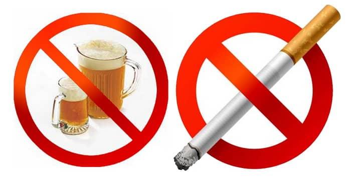 Отказ от вредных привычек при жжении в пищеводе