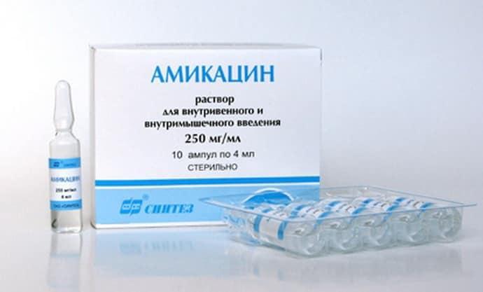 Амикацин при паропрактите