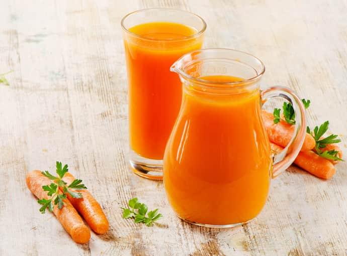 Морковный сок при бульбите