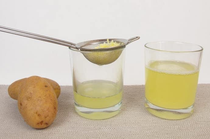 Картофельный сок при очаговом бульбите