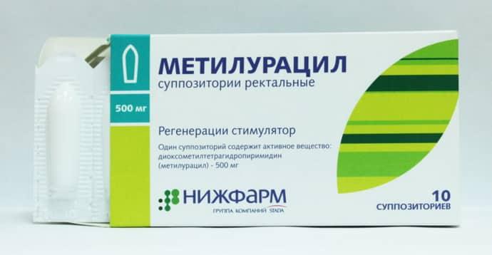 Метилоруцил при колите